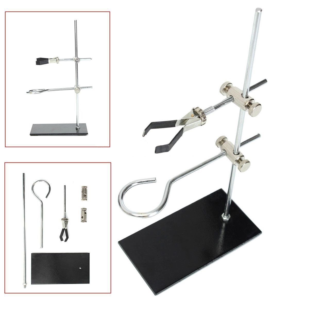 Mini Retort Stands Support Clamp Flask Laboratory Stand Set High Height 30CM modeling mixed species forest stands