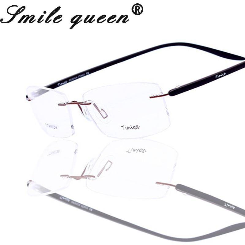 Rimless Glasses New Lenses : 2016 New Brand Tinize Titanium Eyeglasses Rimless Clear ...