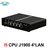 Pfsense Server Quad Core Intel J1900 With 4 LAN Router Fanless System 1 COM 2 USB2
