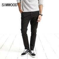 SIMWOOD Brand Pants Men 2017 Autumn New Black Casual Men Pants Slim Fit Trousers Male Plus
