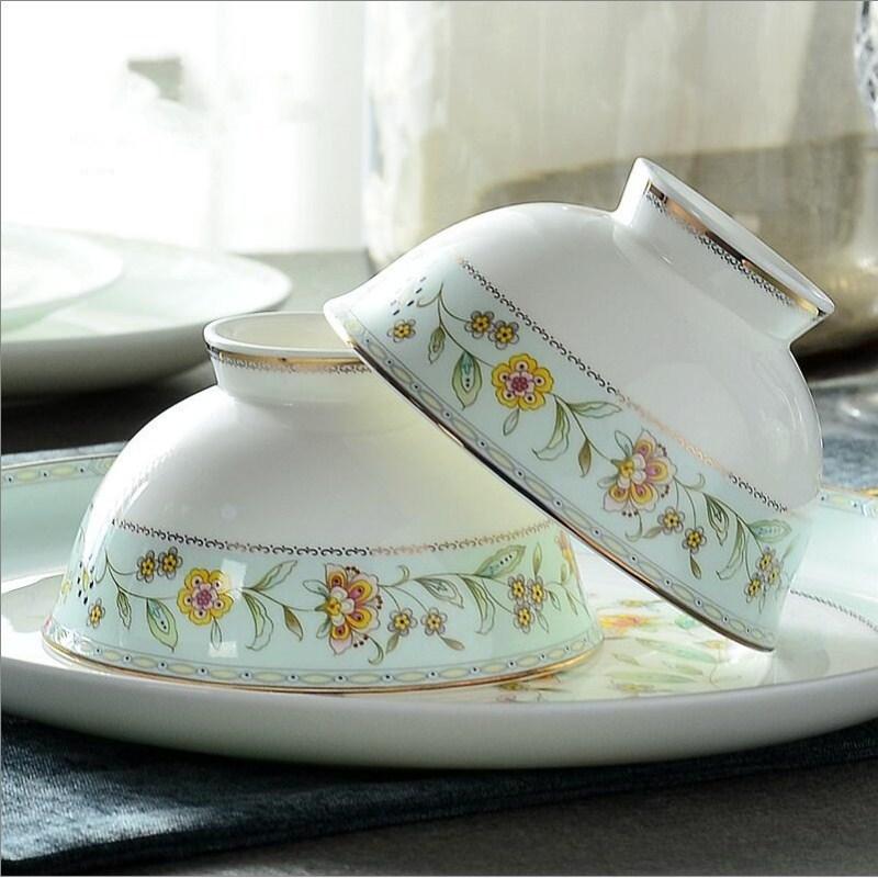 2 Pcs Ceramic Bowl Round Porcelain Salad Bowl Noodle Bowl Microwave Rice Bowl Food Containers High-Grade Porcelain Tableware