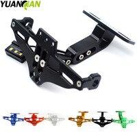 Motorcycle Adjustable Angle License Number Plate Frame Holder Bracket For Yamaha KTM Duke 690 Duke 390