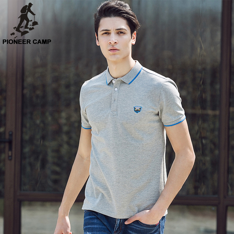 Pioneer Camp 2017 new summer men polo shirt cotton short sleeve shirts jerseys brand clothing 677031