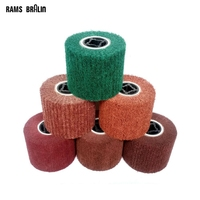 125 100 19mm Non Woven Satin Mop Wheel Free Shipping