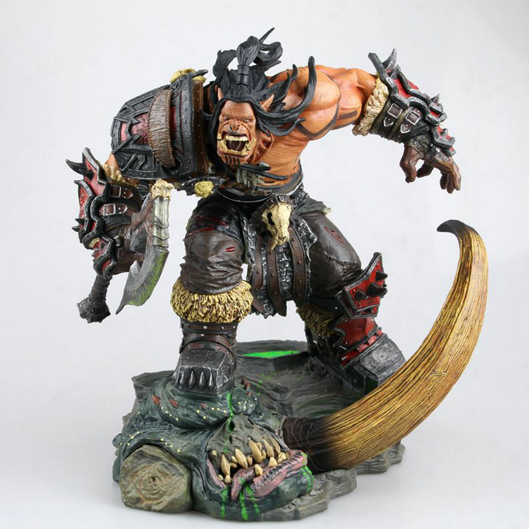 NEW anime movie game figure wow 24cm Grom Hellscream gk resin made action figure toy for Collection doll