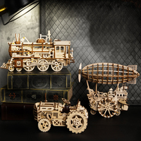 3D Wooden Toys DIY Laser Cutting Wooden Model Building Kits Assembly Toy Wooden Vehicle Car Truck Model Constructor Toys for Boy