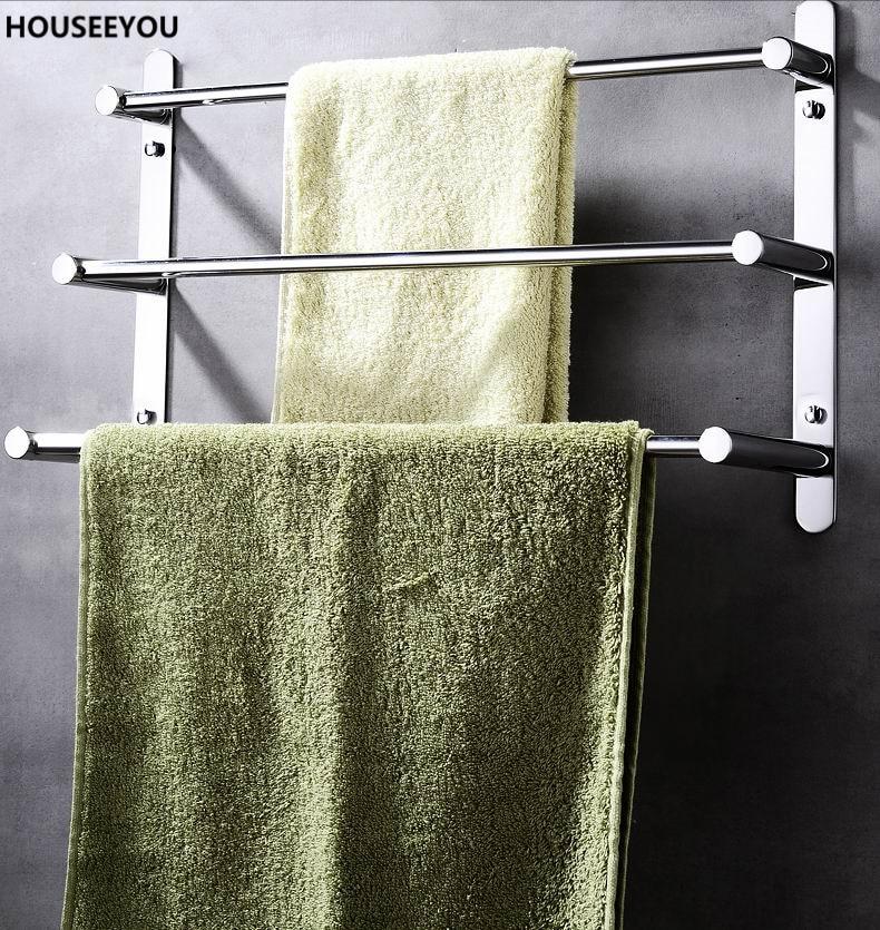 stainless steel towel ladder shelf towel rack holder towel bars for family bathroom accessories shelves - Bathroom Towel Bars