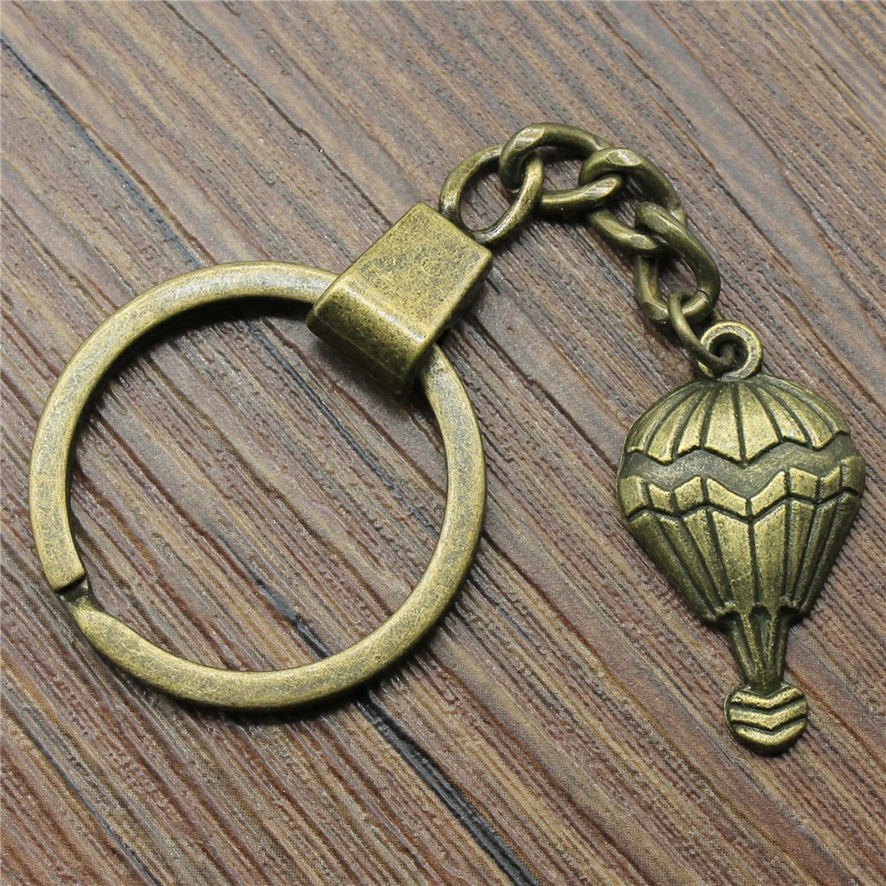 29x17mm Hot Air Balloon Key Ring Vintage New Fashion Metal Key Chain Party Gift Dropshipping Jewellery