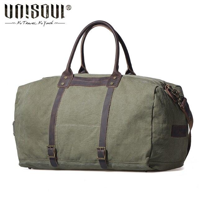 UNISOUL Alta Qualidade dos homens Sacos de Viagem de Lona Moda Patchwork Totes Viagem bolsa Grande Capacidade de cross-corpo clássico