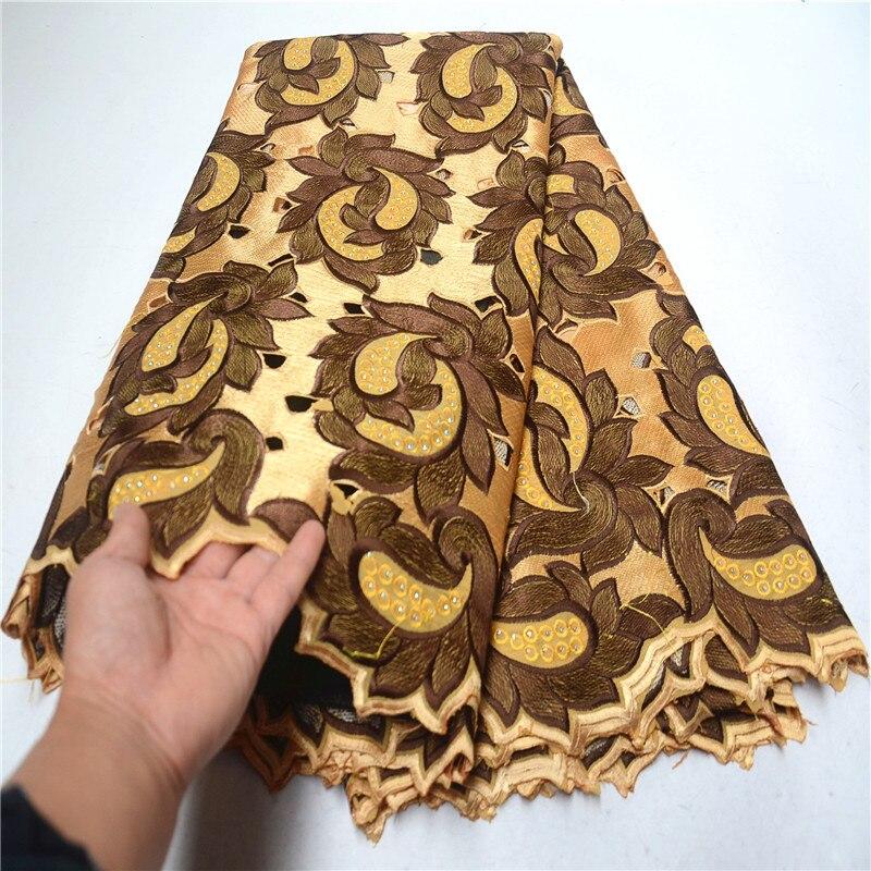 Tejido de encaje africano nigeriano de lujo de alta calidad para hombres y mujeres de algodón tejido de encaje seco de gasa suiza de encaje en Suiza PSA674 3-in encaje from Hogar y Mascotas    1