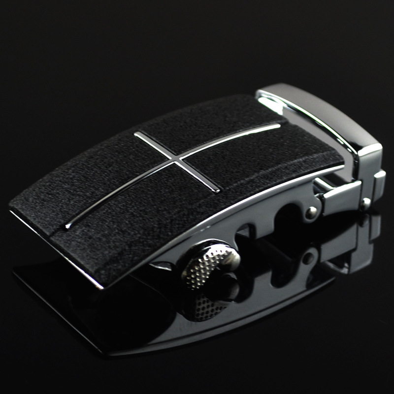 3.5cm Width Men's Belt Buckles Man Luxury Belt Brand Ratchet Belt Automatic Buckle Heads Black Scrub CE25-0438