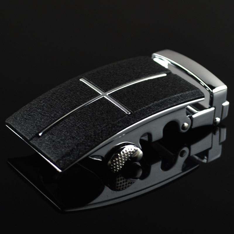3.5cm Width Men's Belt Buckles Man Luxury Belt Brand Ratchet Belt Automatic Buckle Heads Black Scrub CE25-0438