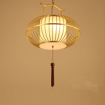 New chinese style wrought iron pendant light antique bird cage lamp bird cage pendant light balcony lamps