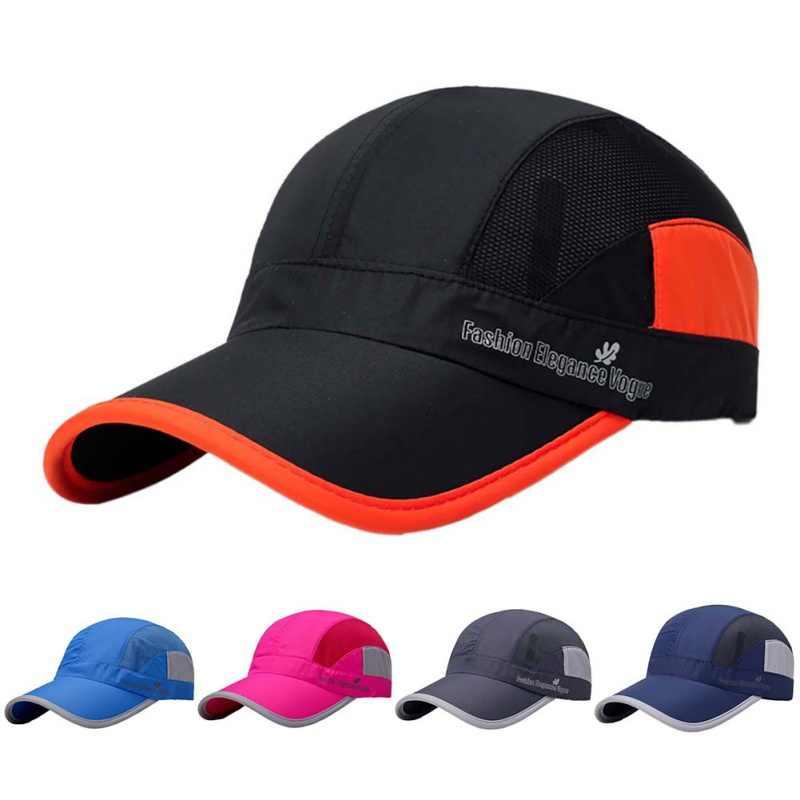 cfbde9f6663 Men Women Breathable Quick-Drying Mesh Hats 2018 Summer New Sport Running  Cap Women Sunshade