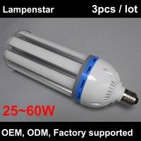 High Power led lamp e40 led bulb 30W 40W 50W 60W fluorescent lamp e40 AC 85 265V Cylinder 5730 SMD Corn Spotlight 3pcs/lot