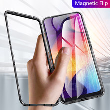 Magnetic Case For Samsung Galaxy a50 a30 a70 case clear glass hard back cover protective coque for samsung a10 m30 m20 S7 S8 S9(China)