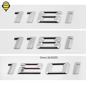 Image 1 - Silver Car Styling for BMW 1 Series 3D Sticker Auto Trunk Lid Rear Emblem Decal Badge for BMW 120i 118i 116i GT F10 F11 X1 E93
