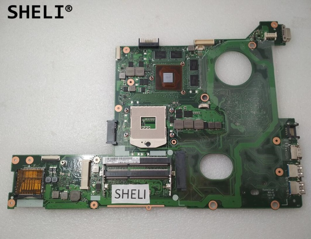 SHELI For ASUS N46VZ Motherboard with GT650M Video Card 2GB DDR3