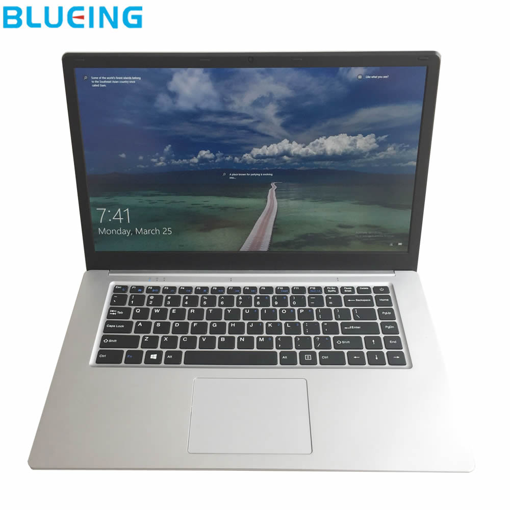 Gameing portátil de 15,6 pulgadas ultra-slim 8 GB RAM 128 GB SSD Batería grande Windows 10 WIFI bluetooth portátil PC envío gratis