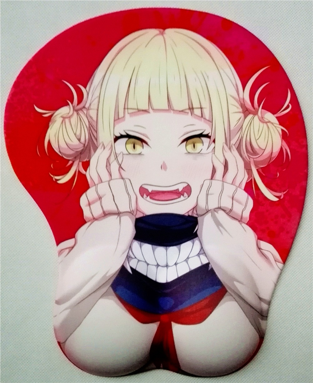 2019 new version Japanese anime silicone 3d mouse pad Lycra fabric wristbands Cartoon Creative sexy mouse pad Chest mouse pad