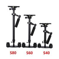 S40/S60/S80 Steadycam 40 см/60 см/80 см Алюминий штатив для камеры переносной + Сумка для DSLR видео Камера фотографии