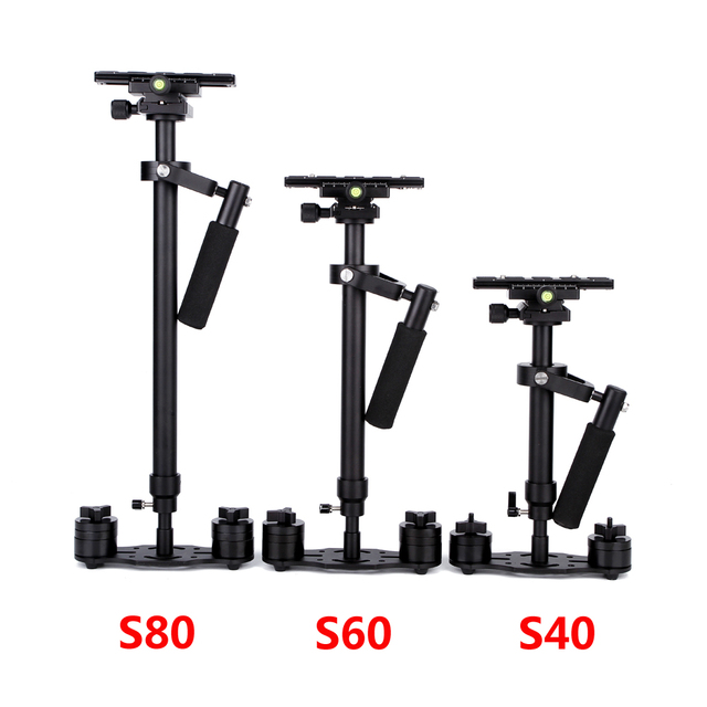 S40/S60/S80 Steadycam 40CM/60CM/80CM Aluminum Steadicam Handheld Stabilizer + Carrying Bag for DSLR Video Camera Photography