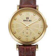Belbi fashion Brand watch women's watches ladies watches top brand luxury wristwatches women montre femme leather quartz watch