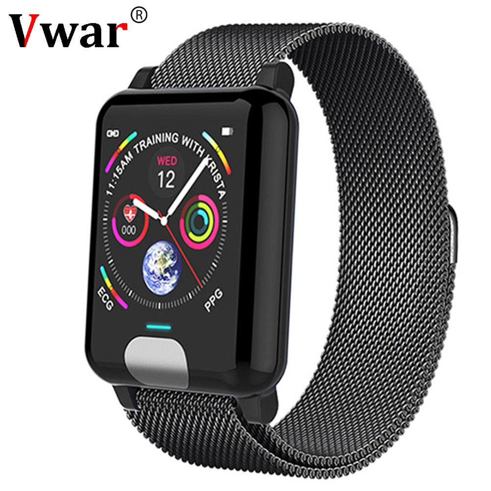 Vwar E04 Smart Band Fitness Tracker ECG PPG Blood Pressure Watch Heart Rate Monitor Waterproof Smart