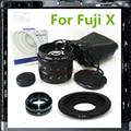 50mm F1.8 CCTV TV Lens + C Adaptador de Montagem Para Fujifilm Fuji X-T1 X-T10 X-PRO2 X-A2 X-PRO1 X-E1 X-E2 X-A1 X-M1 Câmera PA251