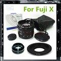 50mm F1.8 Lente de TELEVISIÓN CCTV + C Montaje Adaptador Para Fujifilm Fuji X-T1 X-T10 X-A2 X-PRO1 X-E1 X-E2 X-A1 X-M1 X-PRO2 Cámara PA251