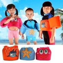 ФОТО 3colors age 2-6 foam cartoon baby arm ring vest baby garment floating kids safety life vest childrens swim life jacket l2250