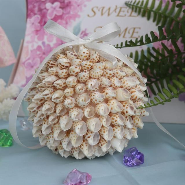 2b50b7afb Free Shipping(1pcs/lot)Babylonia Shell Wedding Bouquet Natural Shell&Conch  Beach Wedding Decor Handmade Coastal Home Decor