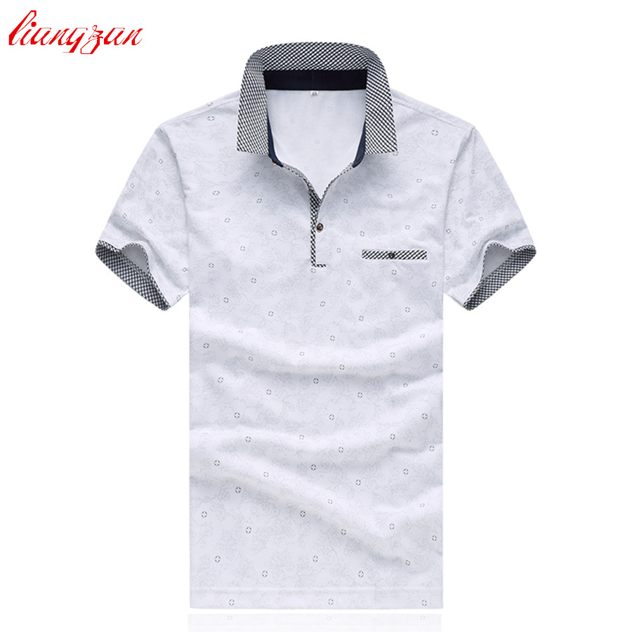The best polo shirts for men - Men Polo Shirts Brand Short Sleeve Summer Casual Mercerized Cotton Slim Fit 5xl Shirt Polo Business Shirts Chemise Homme Sl S024