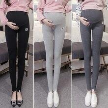 Большой размер XL 2XL Леггинсы для беременных брюки весна осень теплые Леггинсы для беременных Одежда качественные хлопковые брюки