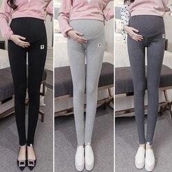 Большой размер XL 2XL Леггинсы для беременных брюки весна осень теплые легинсы для беременных Одежда качественные хлопковые брюки
