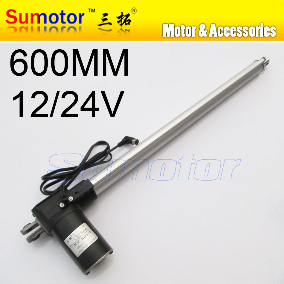 L600 24inch 600mm stroke Electric linear actuator DC motor 12V 24V 5/10/15/30mm/s Heavy Duty Pusher progressive 600/300/100/70Kg 10inch 250mm stroke 12v dc electric linear actuator 4 27mm s 150kg load 12 36v dc 1500n heavy duty tubular electric motor 24v