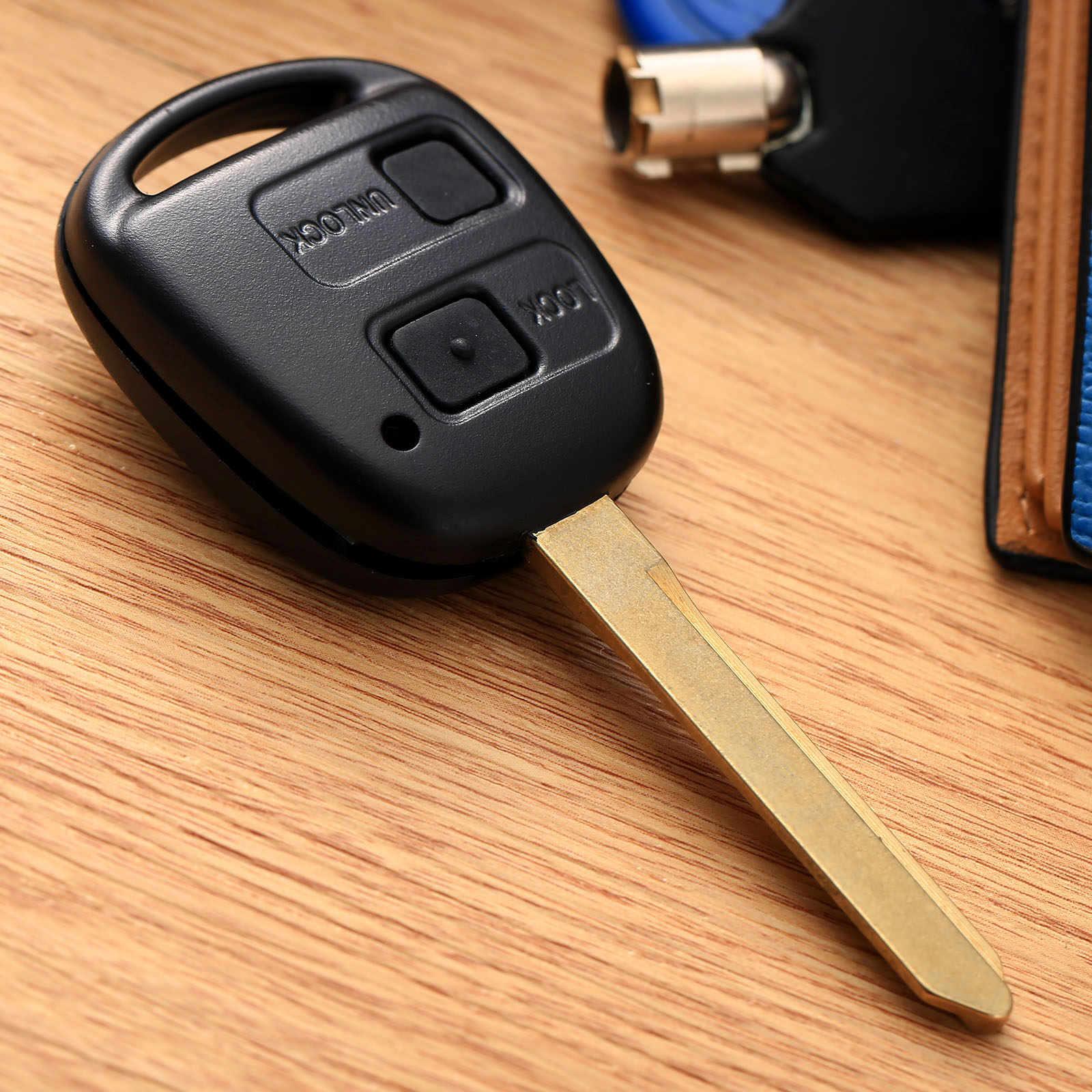 2 nút Keyless Entry Xe Từ Xa Key Fob Shell Trường Hợp Phù Hợp cho Toyota Avensis Toy47 Thay Thế Chìa Khóa Xe Nắp Công Tắc nút Cao Su