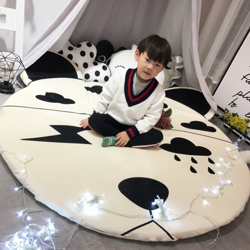 Salon chambre enfants jouer tapis mignon dessin animé Lion ours motif bébé tapis ronds/tapis enfant jeu ramper antidérapant tapis de sol