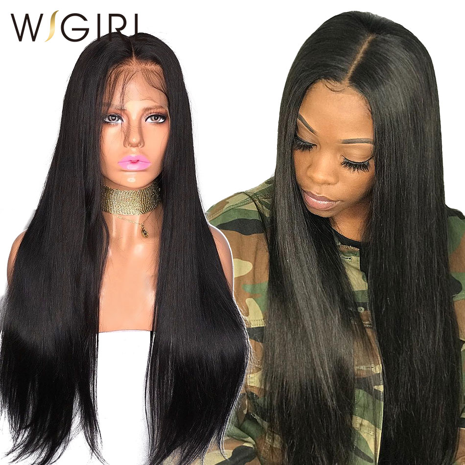 Wigirl 250 Density Straight 360 Lace Frontal Wig Pre Plucked With Baby Hair 13x6 Full Lace