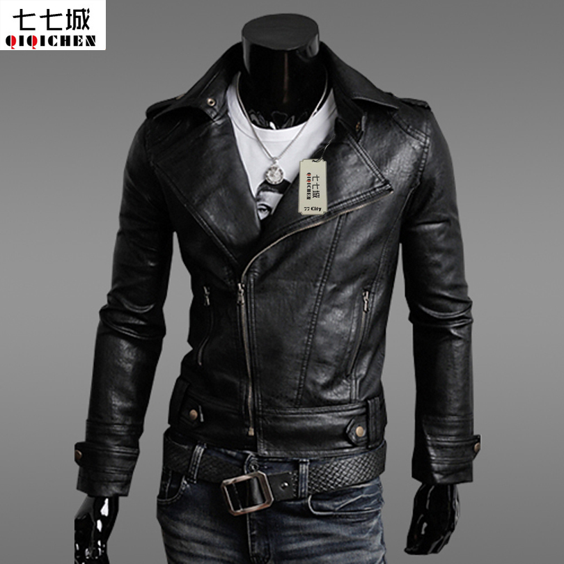 New 2017 Brand Men Leather Jacket Top Quality Male Autumn Winter Leather Jacket Male Fashion Leather Coat Men