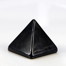 Natural black obsidian crystal quartz pyramid nunatak crafts Home decoration 30mm wholesale