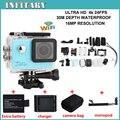 4 K 24fps câmera Actioncam ir pro câmera à prova d' água Esportes de ação câmera de vídeo Wi-fi adicionar monopé + bateria + carregador + saco da câmera