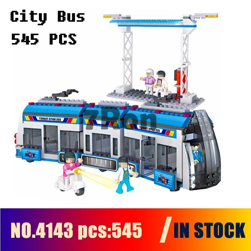 Compatible avec les modèles de construction jouet 4143 545 pièces ville BRT Bus rapide Transit blocs de construction jouets et loisirs
