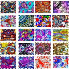 WUF 1 Sheet 2019 New Fashion Colorful Full Cover Stamp Nail Sticker Nail Art Water Transfer Decals for DIY Nail Decor(China)