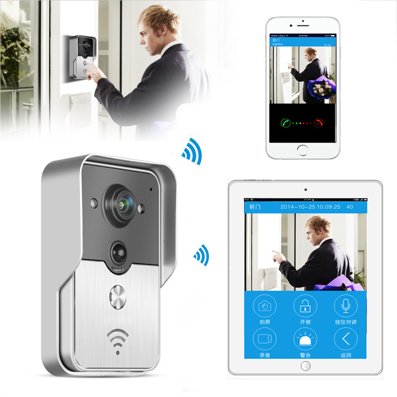 Wireless Wifi IP Camera Doorbell Wireless Video Intercom Phone Control IP Door Phone Smart Doorbell for iphone free shipping ip video door phone intercom system wireless control ip camera video intercom remote control smart doorbell via smartphones
