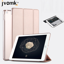 цена на Case for New iPad 9.7 inch 2017 2018, YiPPee Color PU Smart Cover Case Magnet wake up sleep model A1822 A1823 A1893 A1954