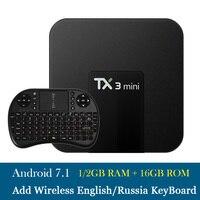Free Shipping TX3mini 1G16G 2G16G Android 7 1 TV BOX Amlogic S905W Quad Core Suppot