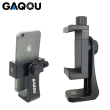 GAQOU Universal Tripod Mount Adapter Cell Phone Clipper Holder Vertical 360 Rotation Tripod Stand for iPhone X 7 plus Samsung