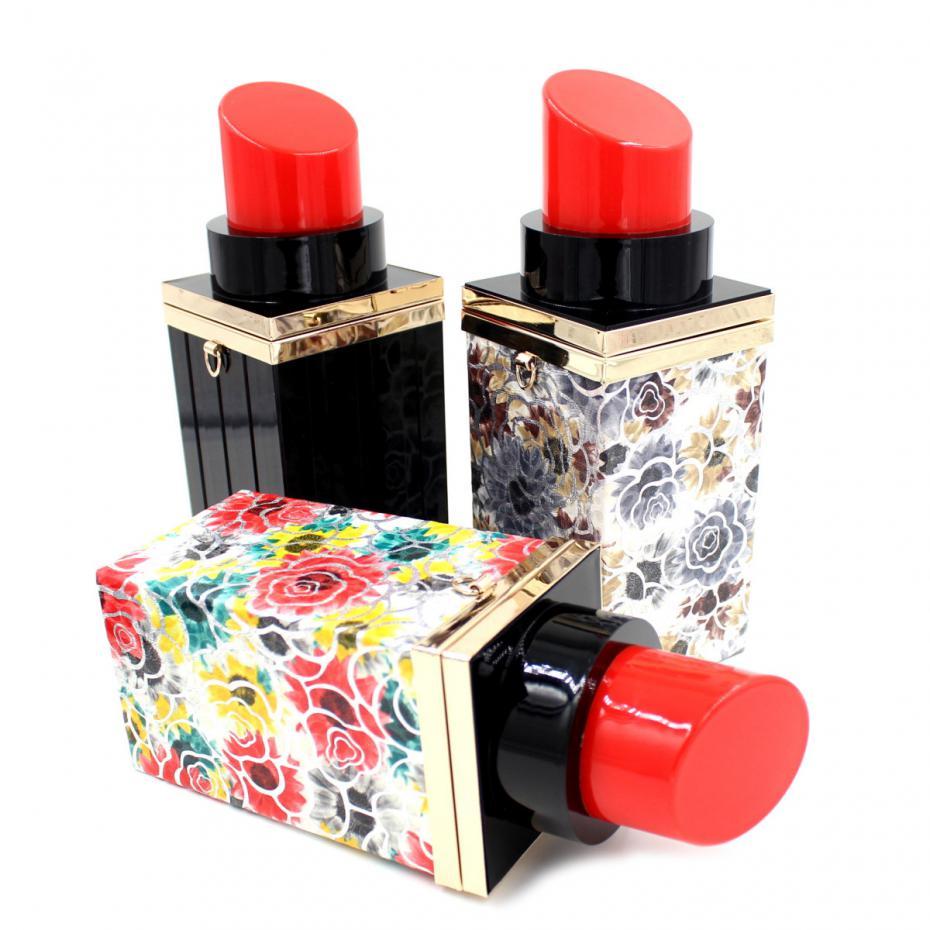 Acrylic Bag Mini Lipstick Perfume Bottle Clutch Purse Evening Bag 2017 Fashion Luxury Women Handbag Chain Shoulder Messenger цена