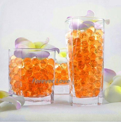 Free Shipping Orange New Crystal Jello Wedding Party Centerpiece